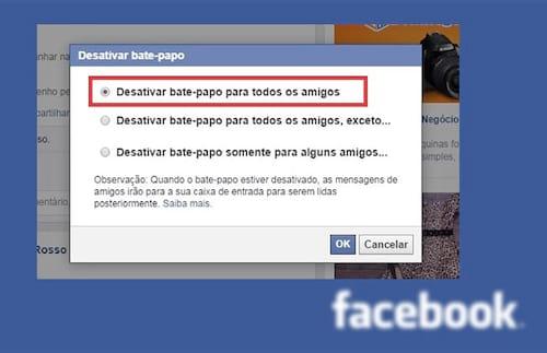 Como desativar o chat do Facebook no computador