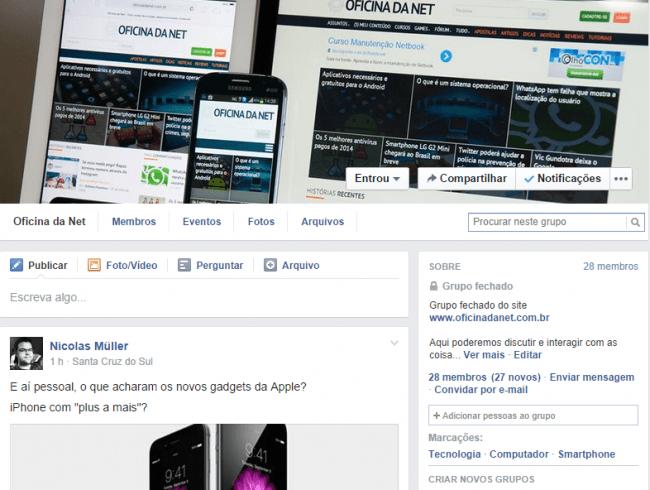 Oficina da Net agora tem um grupo no Facebook