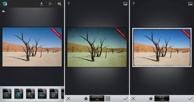 Os 5 melhores editores de fotos para o Android