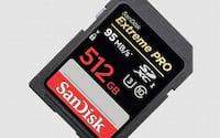 SanDisk anuncia o lançamento do cartão SD de 512GB de espaço