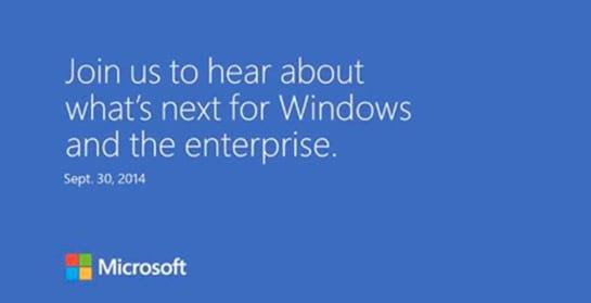 Microsoft convida para o lançamento do Windows 9