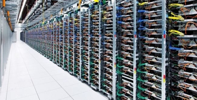 Data center do Google localizado em Oklahoma (EUA).