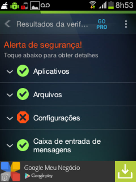 Removendo vírus do android com o AVG
