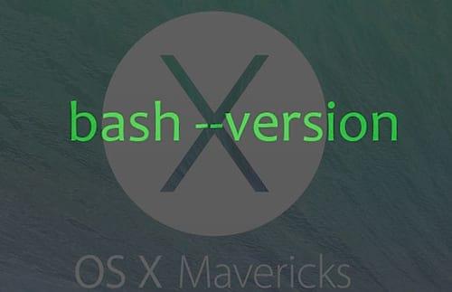Atualizando o bash no Mac OS X