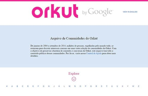 Google libera histórico público do Orkut de comunidades
