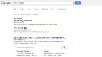 Google disponibiliza busca customizada para site The Pirate Bay