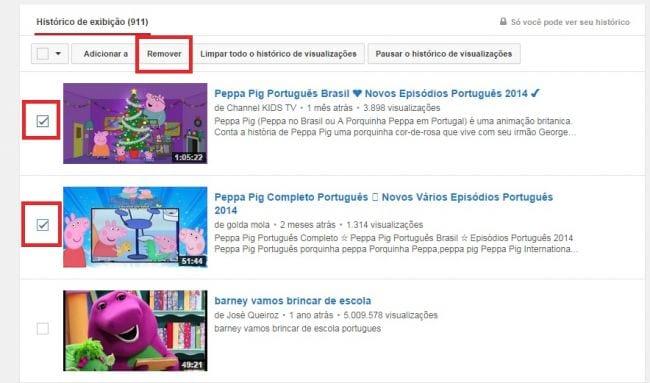 Como apagar o histórico de visualizações no Youtube?