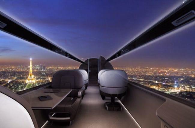 Futuro: Avião sem janelas terá vista externa transmitida através de telas gigantes