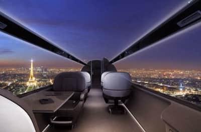 Futuro: Avi�o sem janelas ter� vista externa transmitida atrav�s de telas gigantes