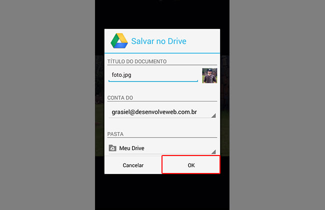 Como baixar fotos do Android?