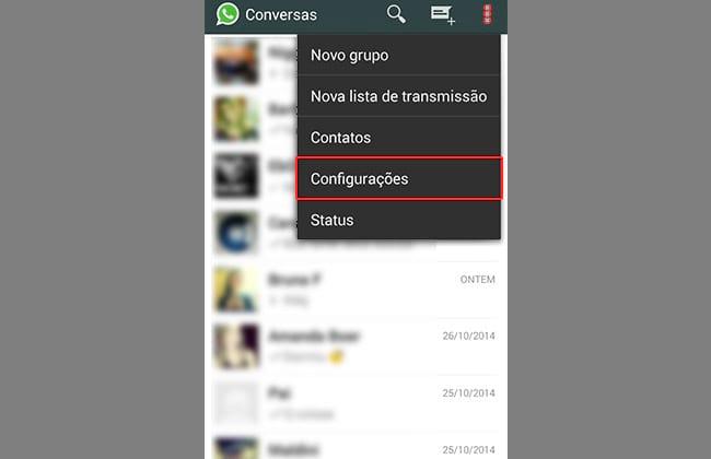 Como remover o visto pela última vez do WhatsApp