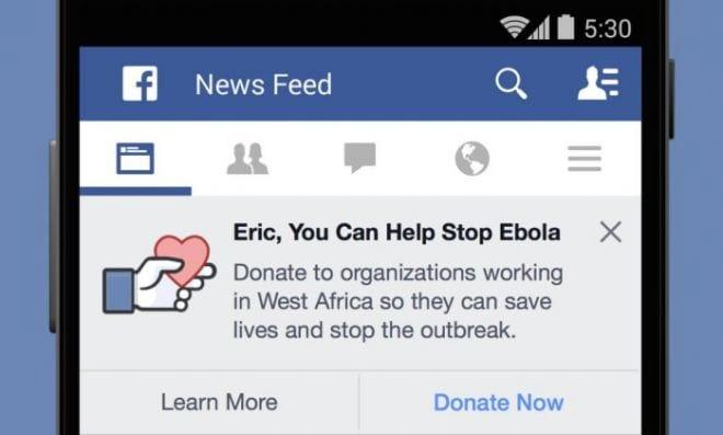 Facebook na luta contra o ebola