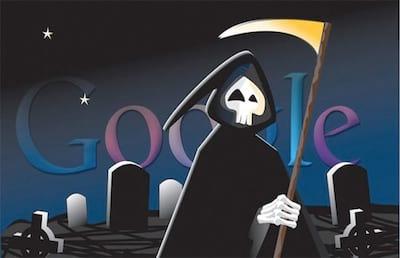 O cemit�rio e fracassos do Google