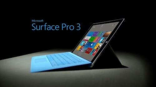 Surface Pro 3 é um presente ideal para o final de ano, diz a Microsoft