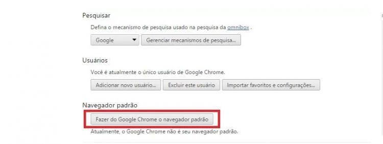 Como deixar o Google Chrome como navegador padrão