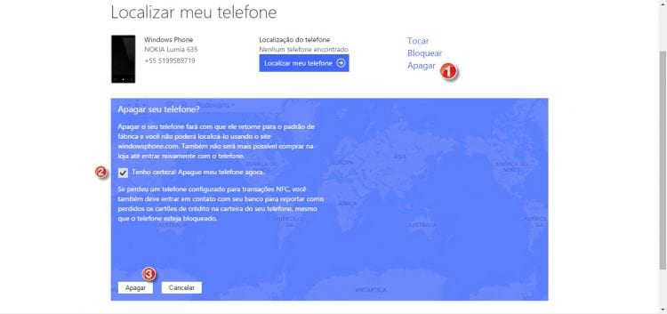 Como restaurar as configurações de fábrica do seu Windows Phone?