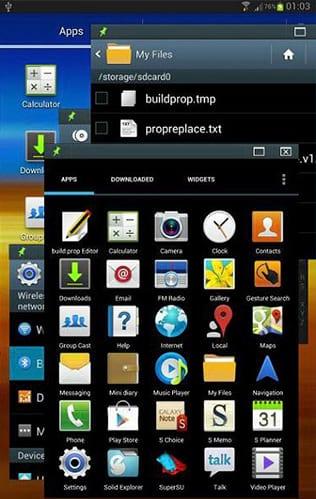 Android operando com multijanelas.