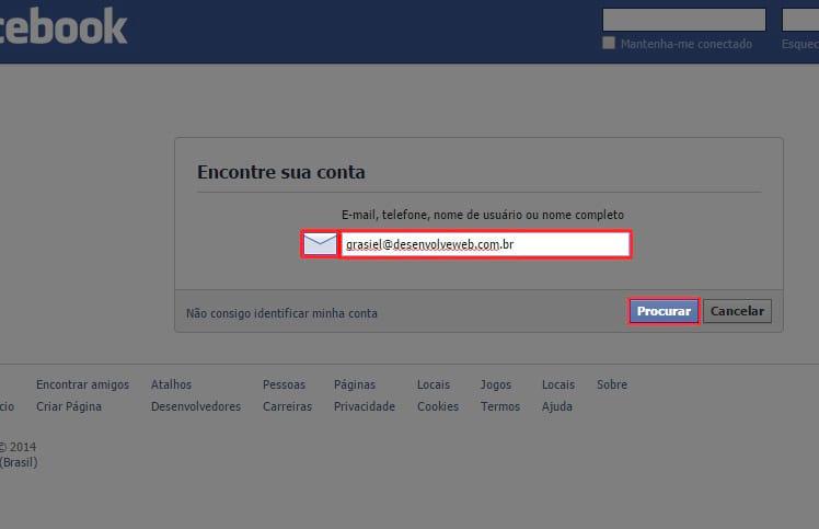 Como recuperar a senha do Facebook?