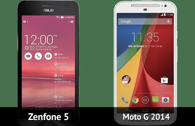 Zenfone 5 ou Moto G 2014: Qual o melhor?