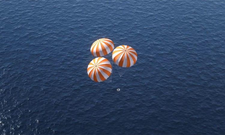 Orion cumpre com louvor seu teste ao redor da Terra