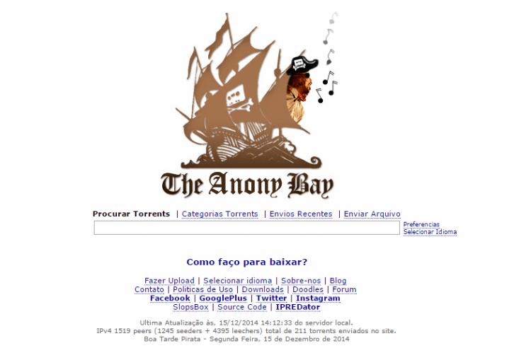 Brasileiros lançam versão do The Pirate Bay