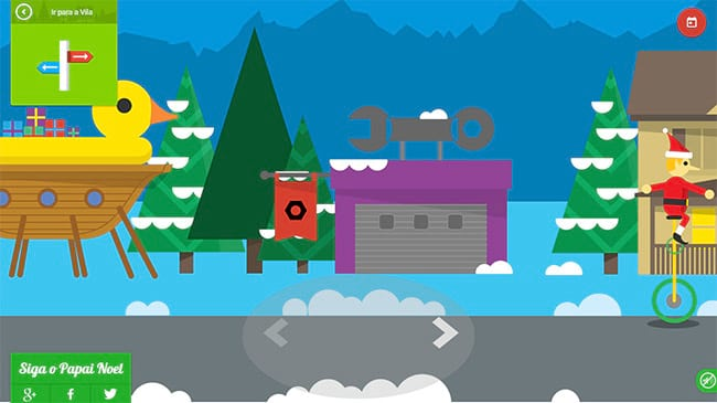 Doodle especial de Natal do Google