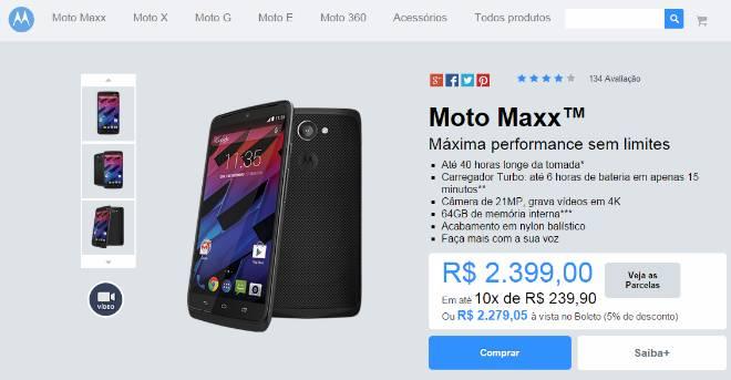 Moto Maxx passa a custar mais caro nas lojas brasileiras