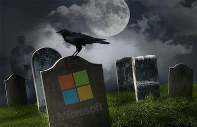 O cemitério e fracassos da Microsoft