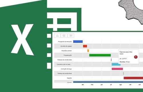 Como criar um gráfico de Gantt no Excel 2013
