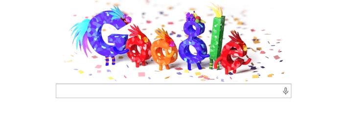 Google presta sua homenagem ao Carnaval com o doodle do dia