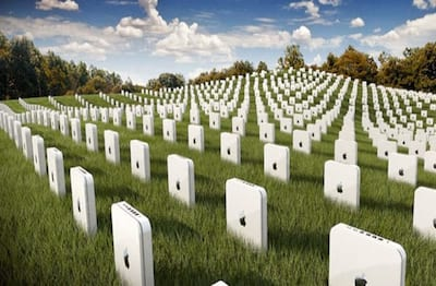 O cemit�rio e fracassos da Apple
