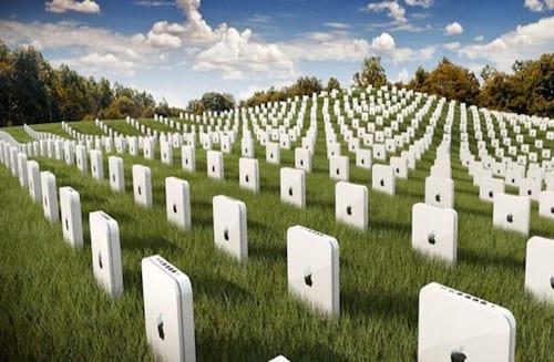 O cemitério e fracassos da Apple
