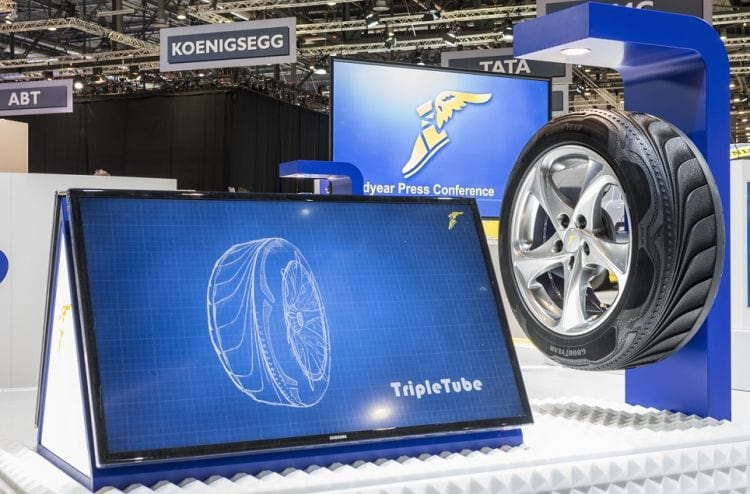 Goodyear desenvolve pneus-conceitos que geram eletricidade
