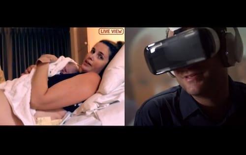 Homem assiste nascimento do filho com um Samsung Gear VR