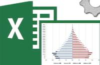 Como criar uma pirâmide etária no Excel