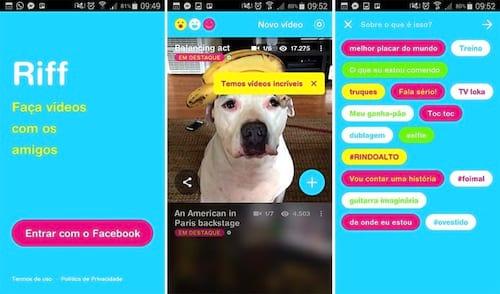 Facebook lança o Riff para competir com Vine