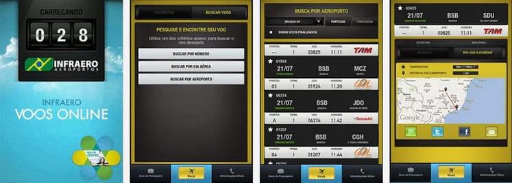 [Brasil] Cinco super apps para rastrear voos  Infraero