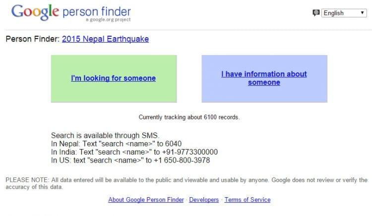 Google e Facebook auxiliam a encontrar pessoas no Nepal