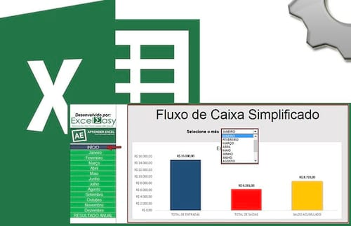 Planilha de fluxo de caixa simplificado