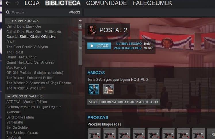 Como compartilhar jogos entre contas do Steam