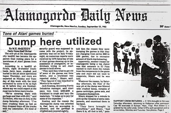 Jornal local informando o sepultamento dos cartuchos