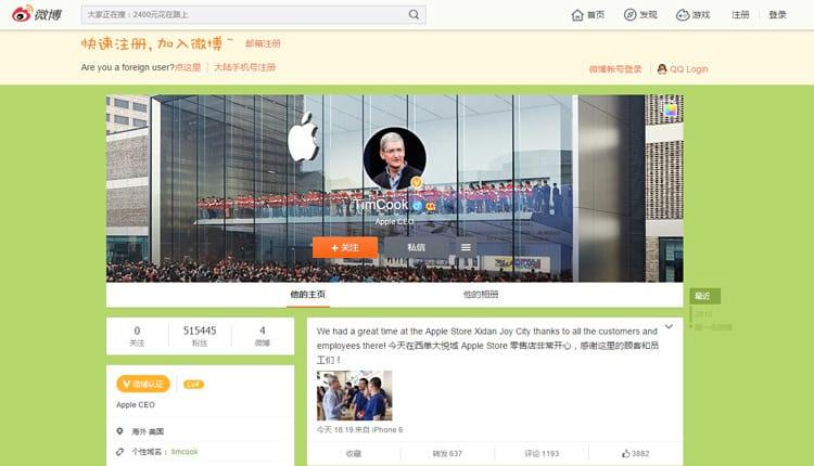 Tim Cook vai à China para resolver assuntos pendentes com empresas locais