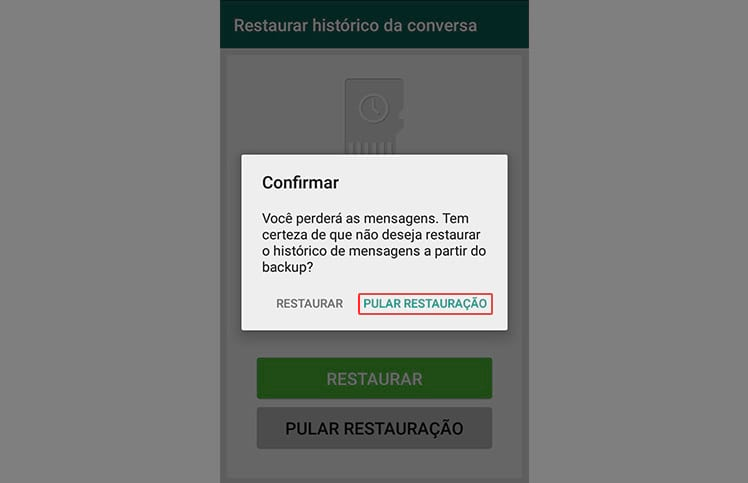 Como excluir as conversas e arquivos do WhatsApp?