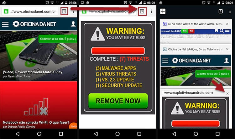 Como remover o vírus que fica abrindo janelas no Android