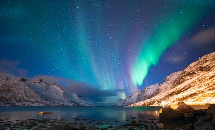 Aurora Boreal na Noruega.