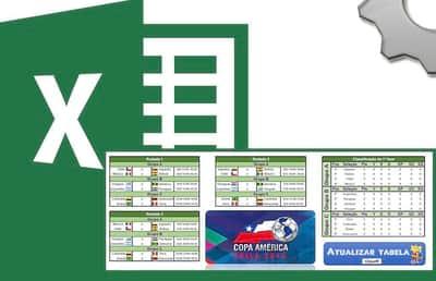Tabela Copa Am�rica 2015 no Excel