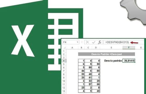 Calculando Desvio Padrão no Excel