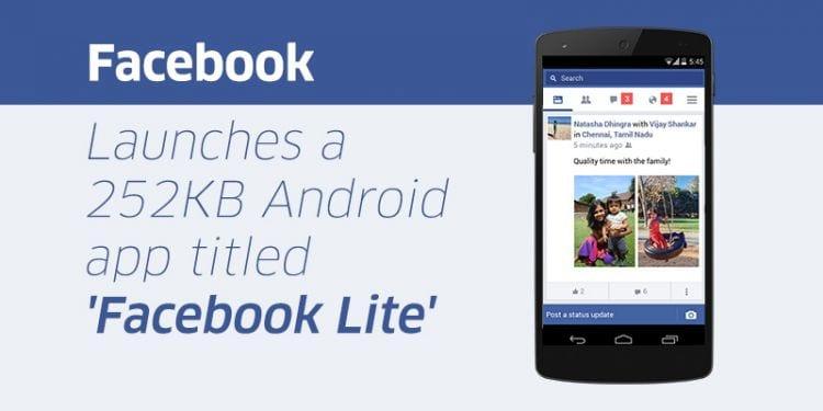Facebook anuncia a chegada do Facebook Lite ao Brasil