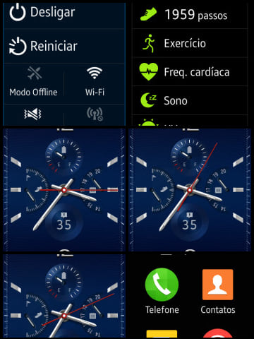 Como fazer uma captura de tela (printscreen) no Galaxy Gear S