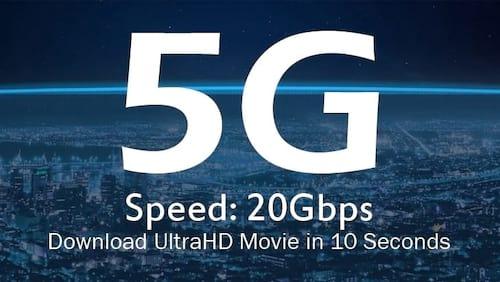 Novo padrão de internet móvel 5G chegará em 2020